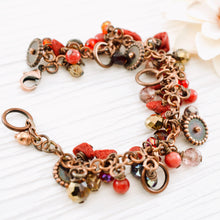 Load image into Gallery viewer, TN Coral Copper Cocktail Bracelet