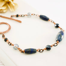 Load image into Gallery viewer, TN Lapis Reflections Bracelet