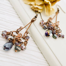Load image into Gallery viewer, TN Gyspy Queen Earrings (purple)