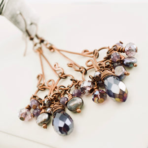 TN Gyspy Queen Earrings (purple)