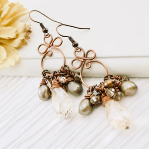 TN Gyspy Queen Earrings (champagne)