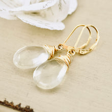 Load image into Gallery viewer, TN Green Amethyst Wrapped Earrings