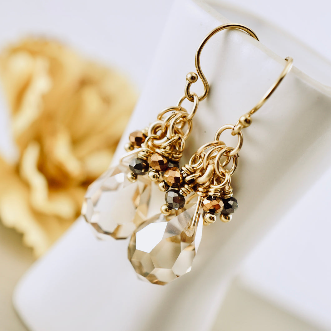 TN Chocolate & Cinnamon Drop Earrings