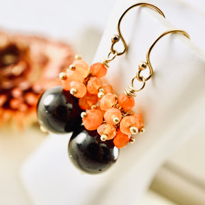 TN Garnet Carnelian Earrings