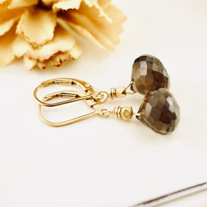 TN Smoky Quartz Earrings (small drops)