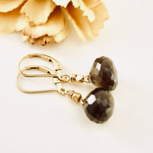Load image into Gallery viewer, TN Smoky Quartz Earrings (small drops)