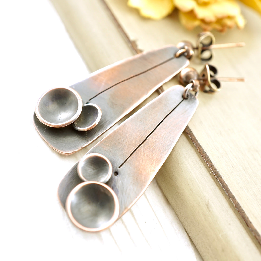 AOK - Copper Pods Earrings (posts)