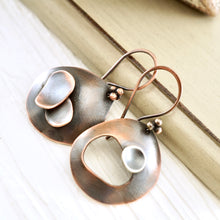 Load image into Gallery viewer, AOK Asymmetrical Domed Earrings