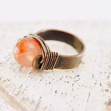 Load image into Gallery viewer, TN Fire Agate Copper Ring