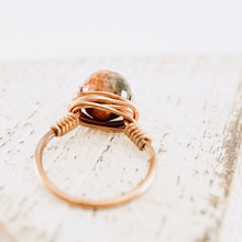 Load image into Gallery viewer, TN Copper & Agate Ring