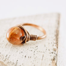 Load image into Gallery viewer, TN Strawberry Quartz Copper Ring