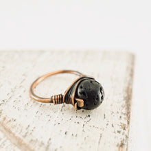 Load image into Gallery viewer, TN Lava Rock Copper Ring