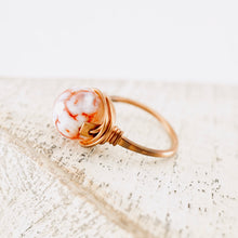 Load image into Gallery viewer, TN Red Fire Agate Copper Ring