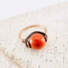 Load image into Gallery viewer, TN Coral Copper Ring