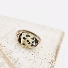Load image into Gallery viewer, TN Dalmatian Jasper Copper Ring