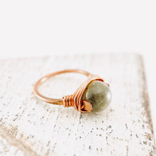 Load image into Gallery viewer, TN Labradorite Copper Ring