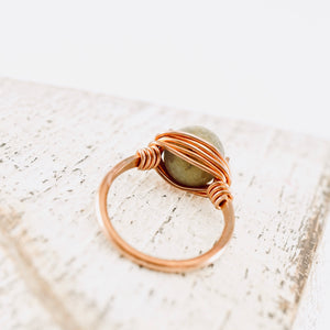 TN Labradorite Copper Ring