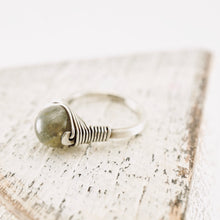 Load image into Gallery viewer, TN Labradorite Silver Ring