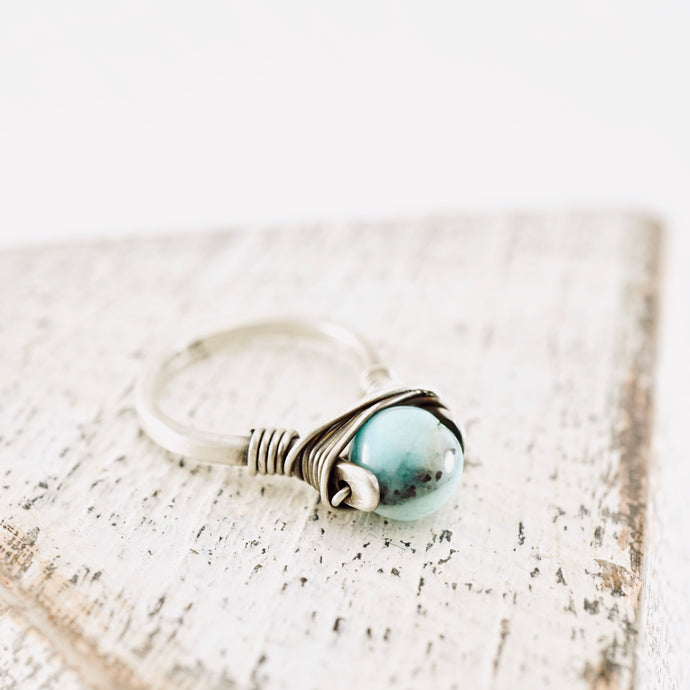 TN Crazy Lace Agate Ring