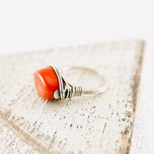 Load image into Gallery viewer, TN Coral Silver Ring