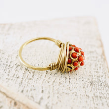 Load image into Gallery viewer, TN Red Dots Brass Ring