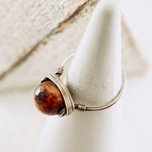 Load image into Gallery viewer, TN Brown Fire Agate Ring