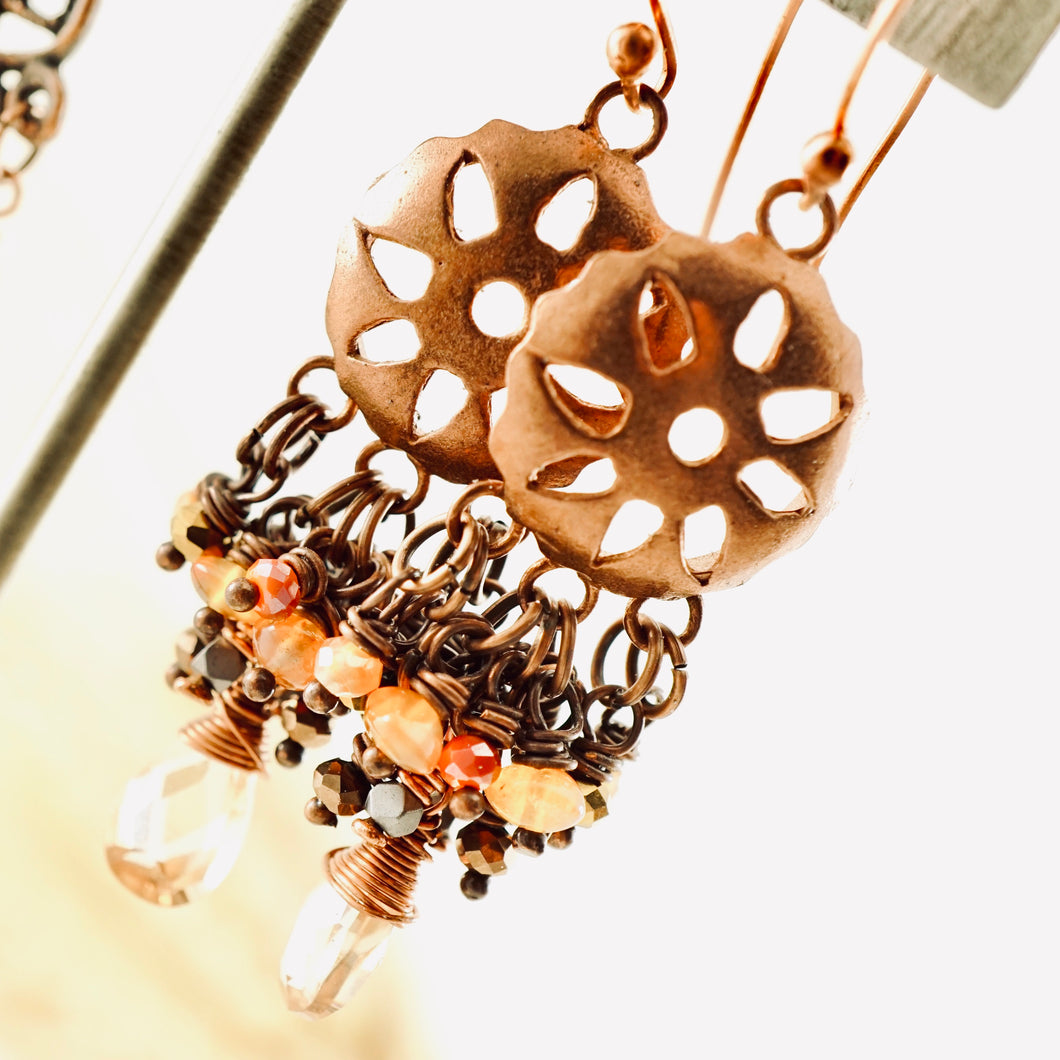 TN Mexican Sun Chandelier Earrings