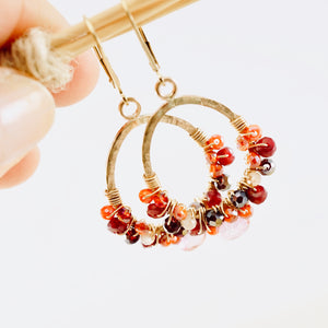 TN Ruby Rose Hoop Earrings