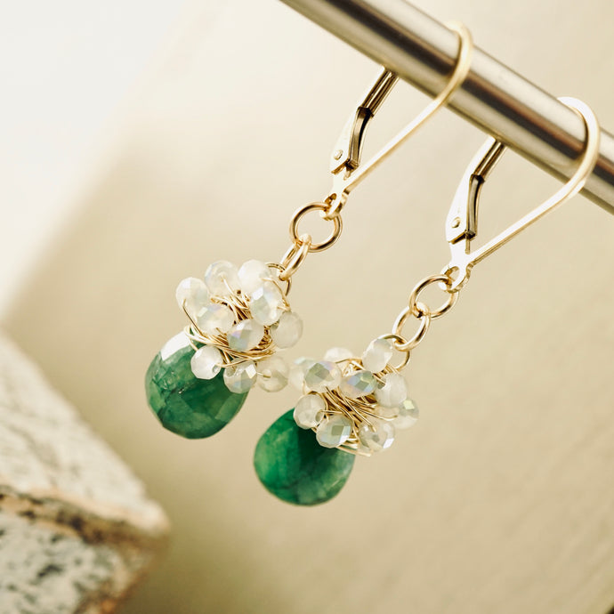 TN Emerald Drop Earrings