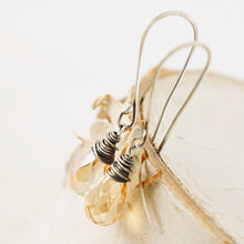 Load image into Gallery viewer, TN Crystal Drop Long Earrings (Champagne)