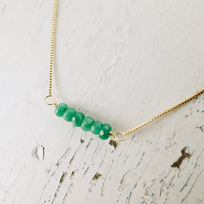 TN Emerald Bar Necklace