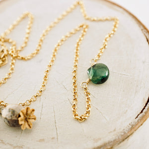 TN Petite Green Topaz Necklace
