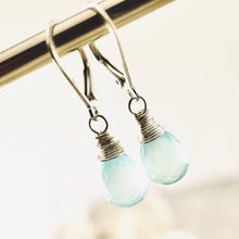 Load image into Gallery viewer, TN Petite Blue Chalcedony Earrings