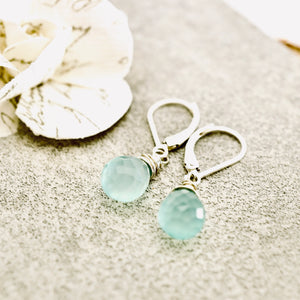 TN Petite Blue Chalcedony Earrings