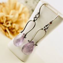 Load image into Gallery viewer, Petite Swings - Amethyst Earrings 15