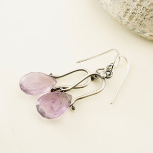 Petite Swings - Amethyst Earrings 15