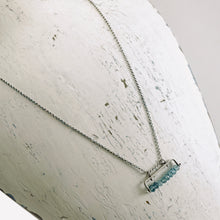 Load image into Gallery viewer, TN London Blue Topaz Bar Necklace
