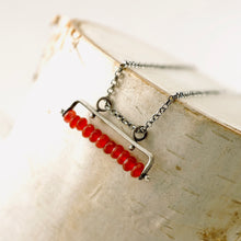 Load image into Gallery viewer, TN Cranberry Jade Bar Necklace
