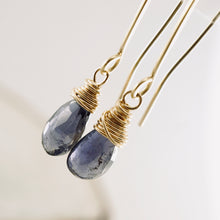 Load image into Gallery viewer, TN Iolite Long Earrings