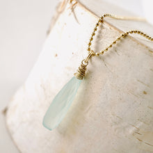 Load image into Gallery viewer, TN Blue Chalcedony Drop Pendant (GF)