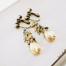 Load image into Gallery viewer, TN Honey Crystal Clip-on Earrings