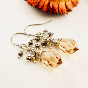 TN Cappuccino Crystal Earrings