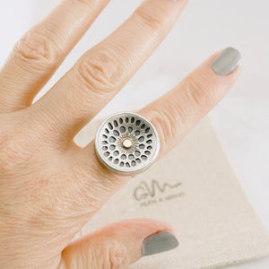 AOK - Lotus Pod Ring (Adjustable Size: 8 - 8.5)