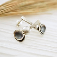 Load image into Gallery viewer, Unique, artisan designed, handmade sterling silver post earrings | Nesting Bowls collection