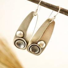 Load image into Gallery viewer, Unique, artisan designed, handmade sterling silver earrings | Nesting Bowls collection