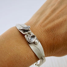 Load image into Gallery viewer, Unique, artisan designed, handmade sterling silver link bracelet | Nesting Bowls collection