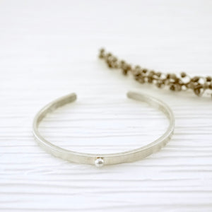 Unique, artisan designed, handmade sterling silver, stackable cuff bracelet | Layers and Stackables collection
