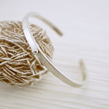 Load image into Gallery viewer, Unique, artisan designed, handmade sterling silver, stackable cuff bracelet | Layers and Stackables collection