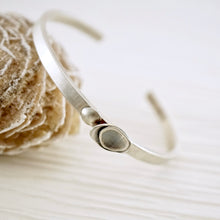 Load image into Gallery viewer, Unique, artisan designed, handmade sterling silver cuff bracelet | Nesting Bowls collection