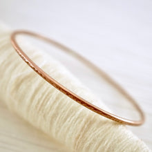 Load image into Gallery viewer, Artisan designed, handmade sterling silver or copper, stackable bangle bracelet | Layers and Stackables collection